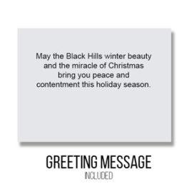 Greeting - Inside Card : Black Hills Winter