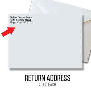 ORDER RETURN ADDRESS PRINTED